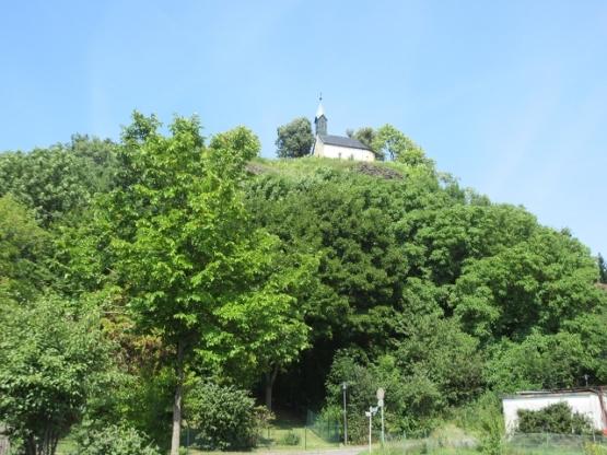 Parkstein-Kapelle von unten.