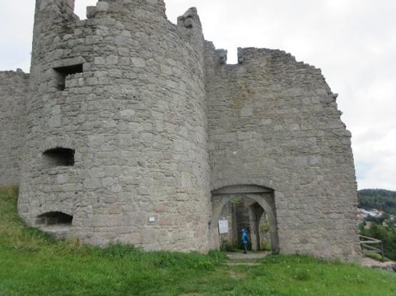 Burg aus Granitgestein