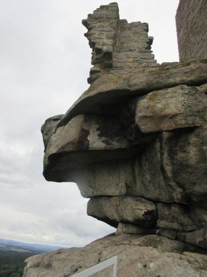 Die überhängende Felsnase