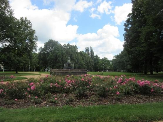 Einer der vielen Parks in Marienbad.