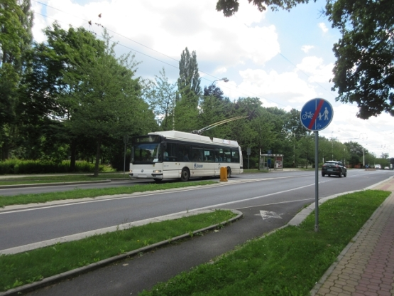 Oberleitungsbus in Marienbad