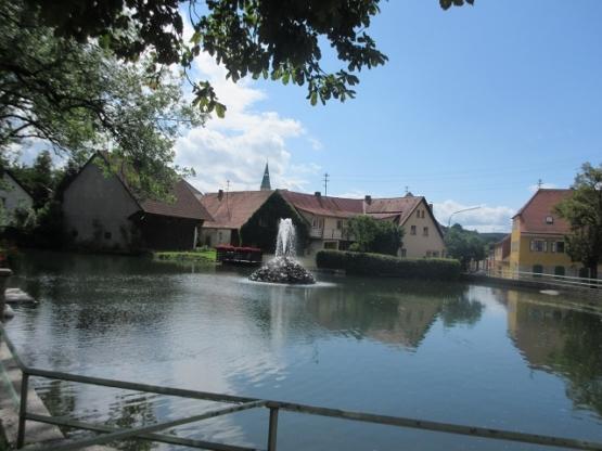 Teich im Zentrum von Pleystein