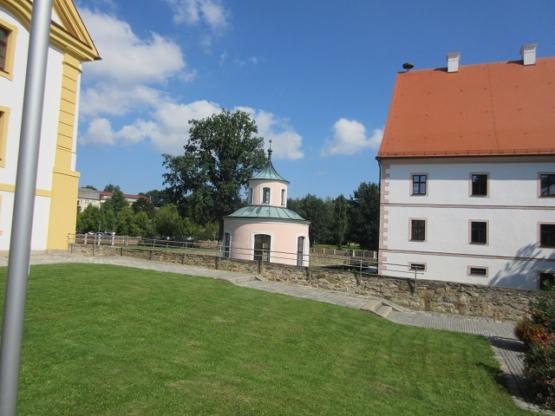 Das Abtschloss mit dem Pavillon